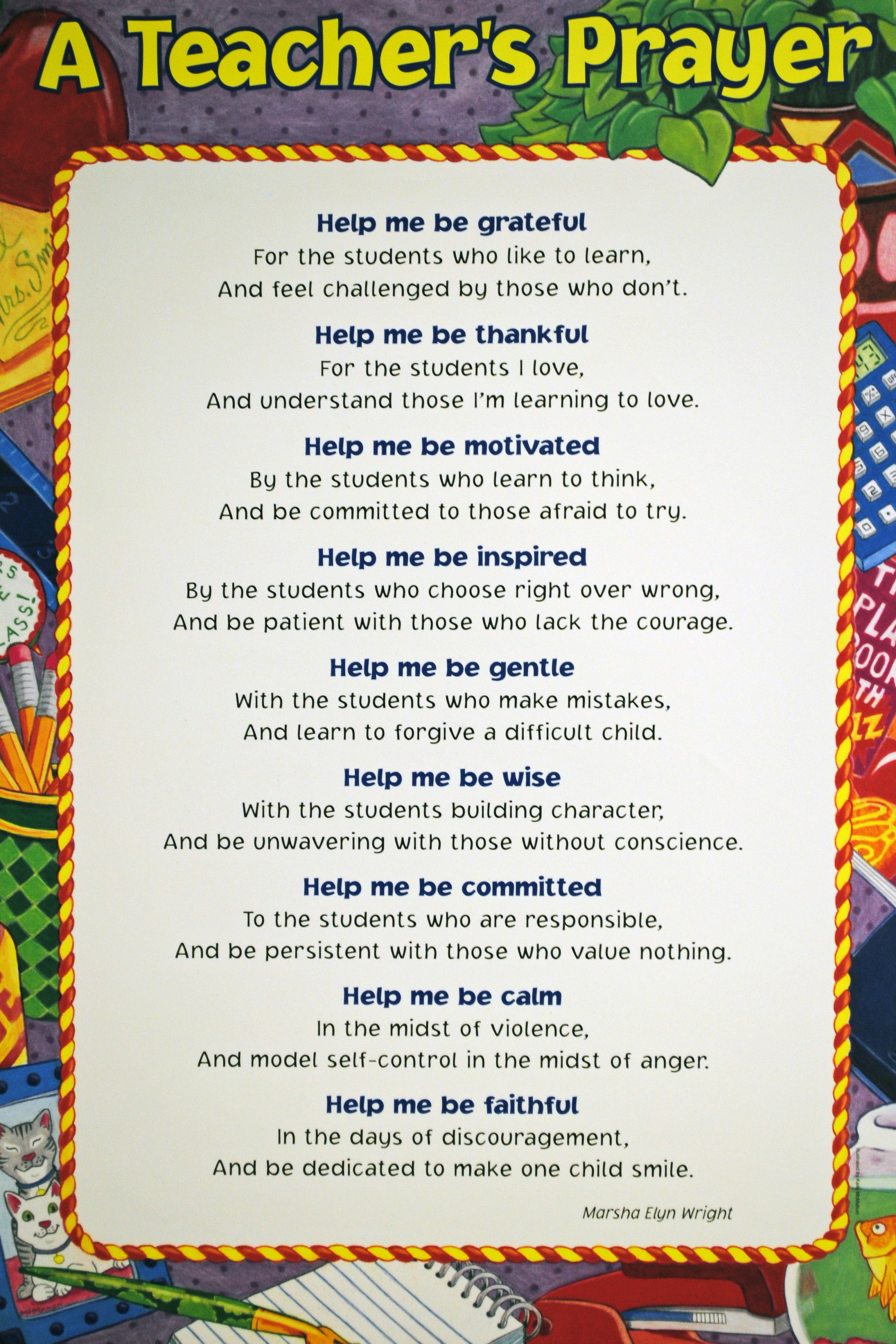 A TEACHER'S PRAYER